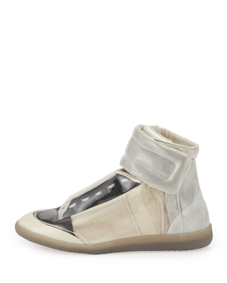 Future Translucent High-Top Sneaker, Taupe