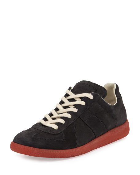 Replica Leather Low-Top Sneaker