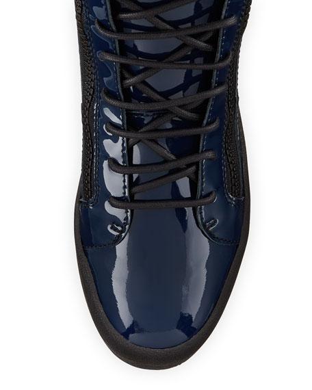 Men's Patent High-Top Sneaker