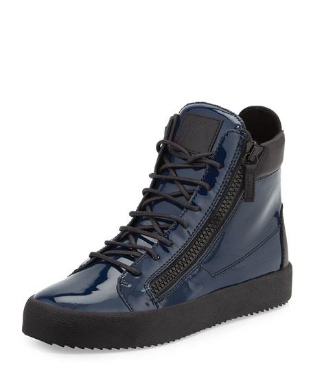 Giuseppe Zanotti Men's Patent High-Top Sneaker