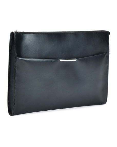 Limited Edition Leather Portfolio Case, Gray