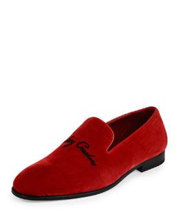 Creature Velvet Slip-On Loafer, Red
