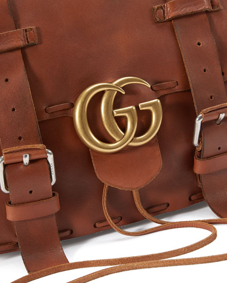 f004191f98f Gucci Men s GG Marmont Leather Messenger Bag