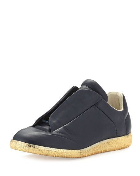 Men's Future Leather Low-Top Sneakers with Golden Sole