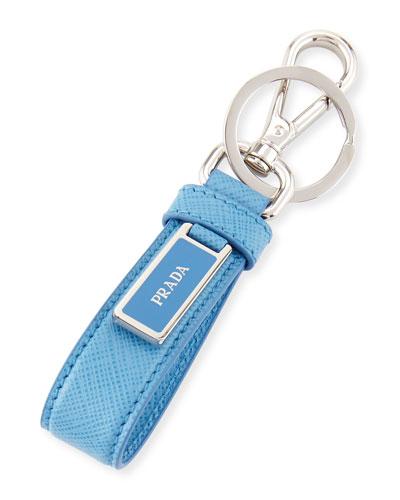 Saffiano Logo Charm Key Chain