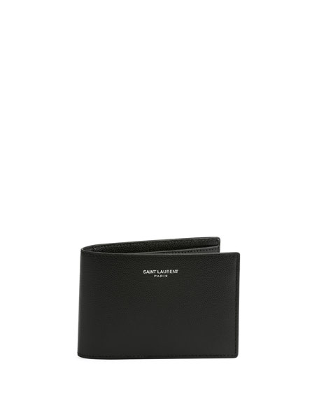 Classic Leather Bi-Fold Wallet, Black