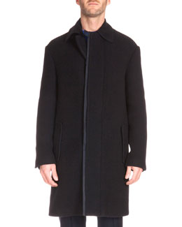 Oversized Cashmere Topcoat, Navy