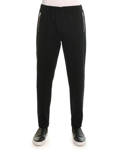 Wool Jogger Pants, Black