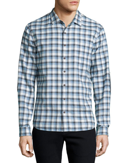 ATM Anthony Thomas Melillo Plaid Flannel Long-Sleeve Sport