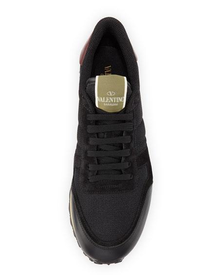 Rockrunner Mesh/Leather Sneaker, Black