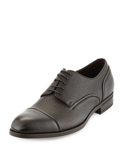 Avenue Flex Leather Derby Shoe, Medium Brown