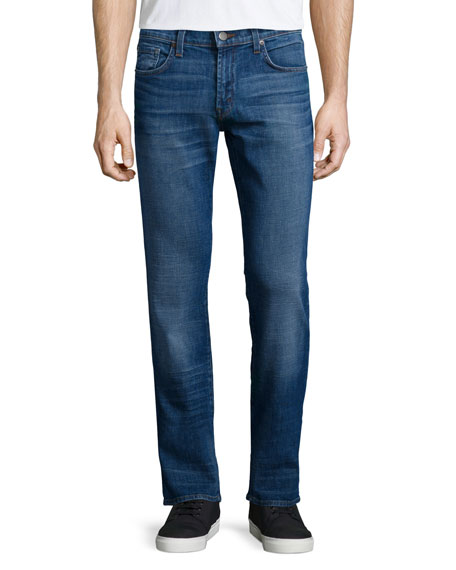 Kane Becker Straight-Leg Denim Jeans, Light Blue