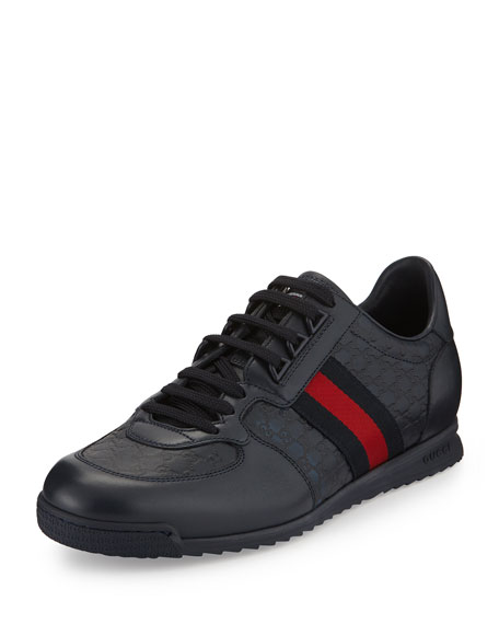 819548b05 Gucci Lace-Up Sneaker with Web Detail