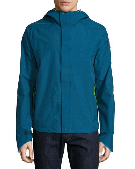Alderwood Hooded Nylon Jacket, Dark Blue