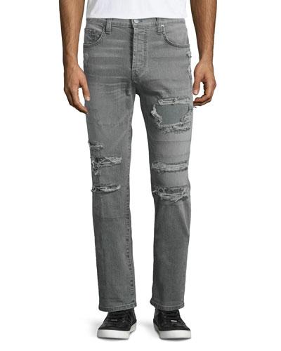Tyler Destroyed Slim-Fit Denim Jeans, Destructed Olanti