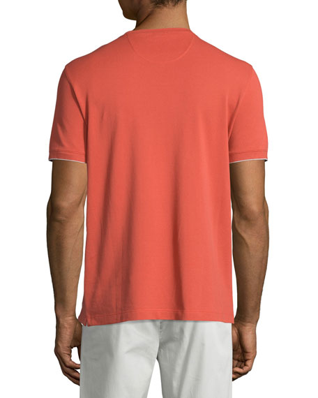 Regatta Short-Sleeve Pique T-Shirt, Coral