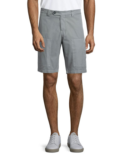 Cotton Cargo Shorts, Gray