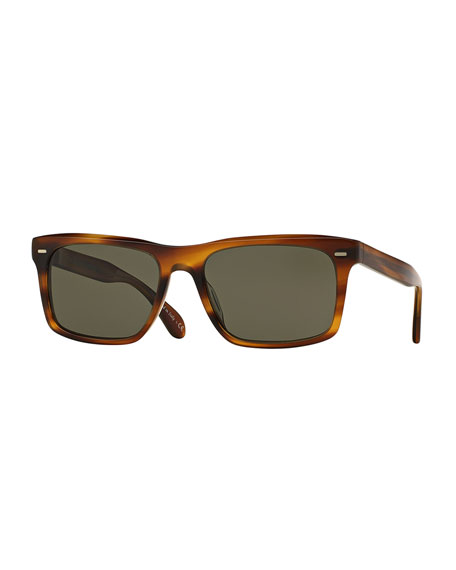 Oliver Peoples Brodsky VFX+ Polarized Sunglasses, Brown