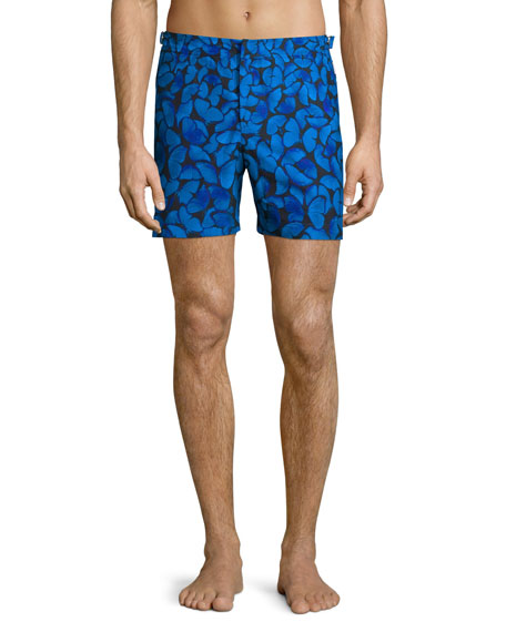 Orlebar Brown Bulldog Butterfly-Print Swim Trunks