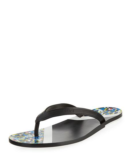 7689be5342a9 Fendi Confetti Flip-Flop Sandal