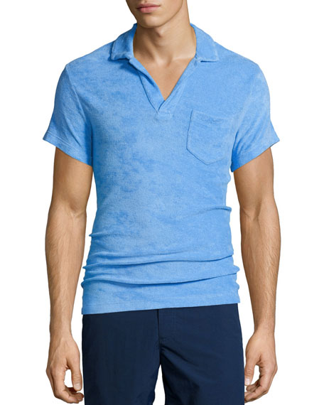 Terry Short-Sleeve Polo Shirt, Riviera