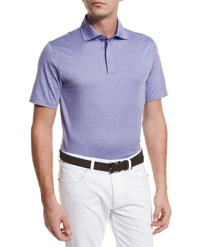 Stretch-Cotton Polo Shirt, Lilac