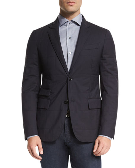 Trofeo® Wool Elements Quilted Blazer, Navy