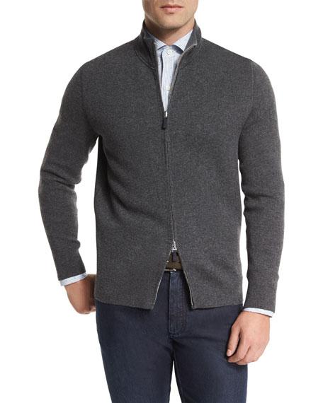 Reversible Full-Zip Jacket, Charcoal