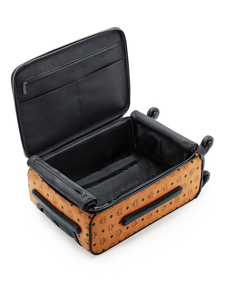 Visetos Travel Trolley/Rolling Carryon Suitcase, Cognac