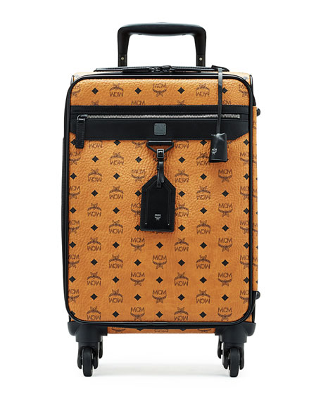 Visetos Travel Trolley/Rolling Carryon Suitcase, Cognac