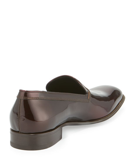 Patent Leather Venetian Loafer, Wine