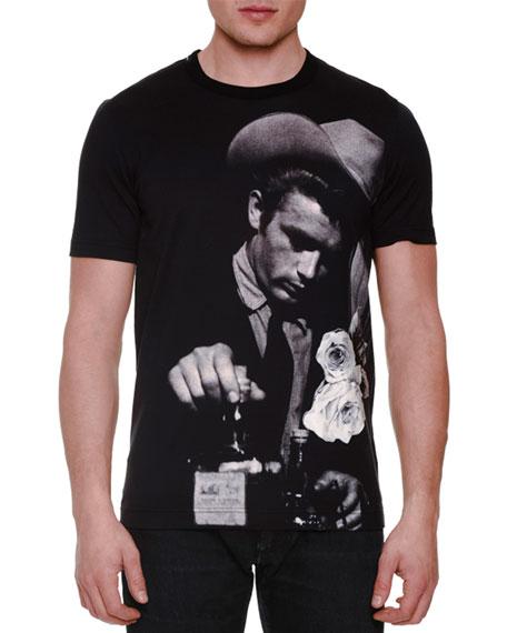 Dolce   Gabbana James Dean Photo-Print T-Shirt, Black Gray 4d8d2e7609bc