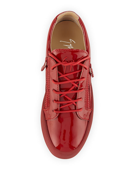 Men's Patent Leather Low-Top Sneaker