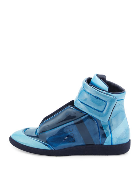 Future Transparent High-Top Sneaker, Blue