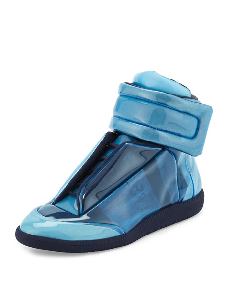 Future Transparent High-Top Sneaker, Blue