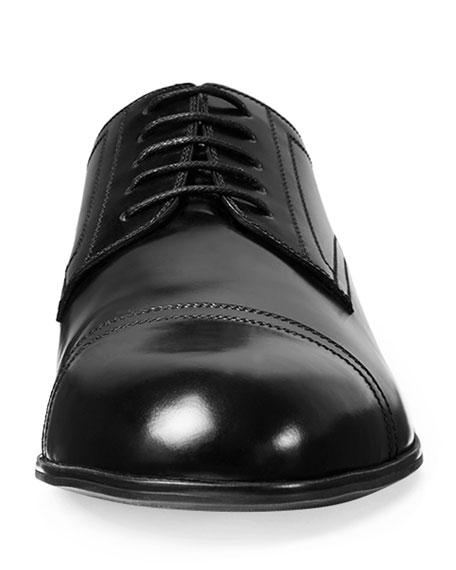 Ravello Leather Oxford Shoe, Black