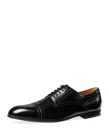 Ravello Leather Oxford Shoe, Black