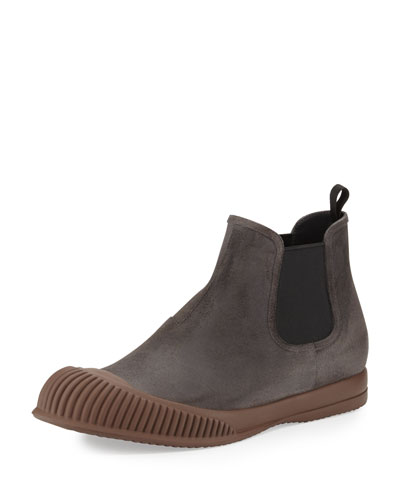 Mud-Guard Suede Chelsea Boot, Gray