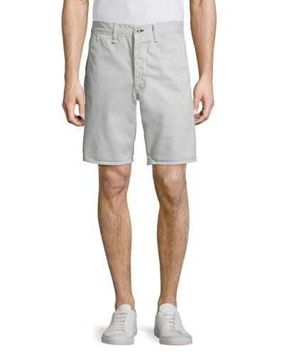 Standard Issue Twill Shorts, Pale Gray