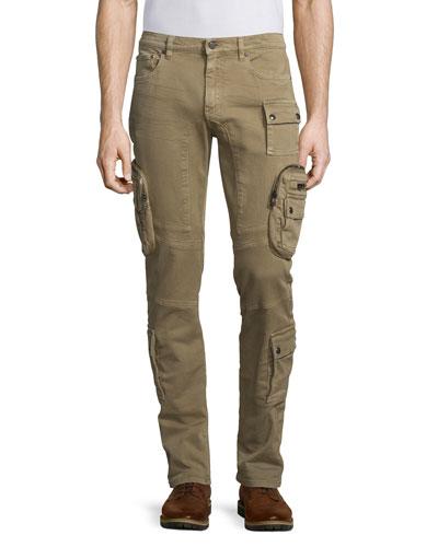 Mallison Garment-Dyed Cargo Jeans, Birch