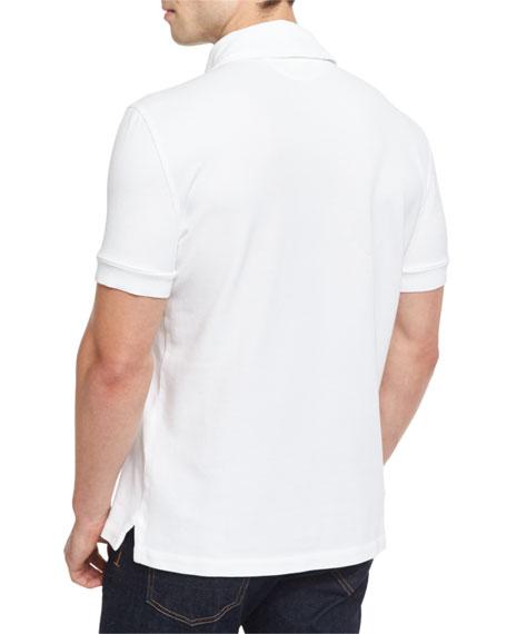 Tennis Pique Polo Shirt, White