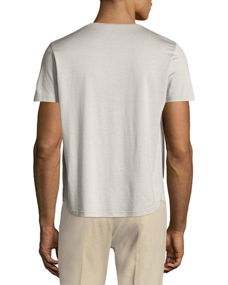 Silk & Cotton Jersey T-Shirt, Silver Gray
