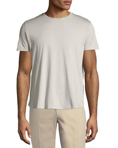 Loro Piana Silk & Cotton Jersey T-Shirt, Silver
