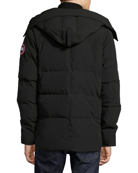 canada goose black hooded jacket