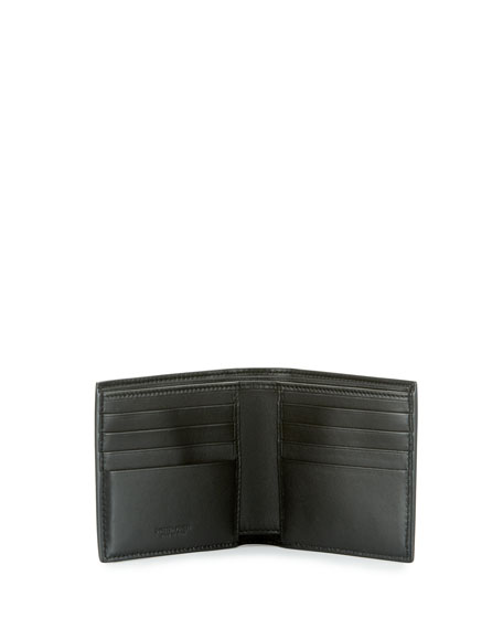 Intrecciato Leather & Snakeskin Wallet, Black