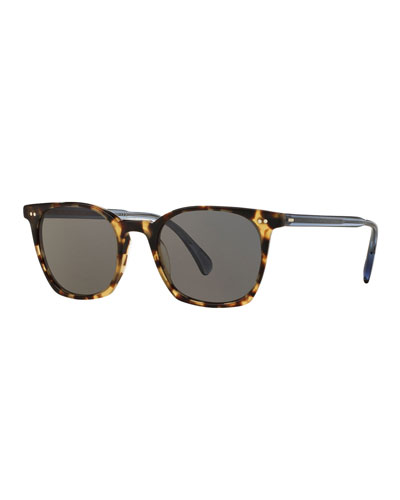 L.A. Coen 49 Acetate Sunglasses, Hickory/Denim