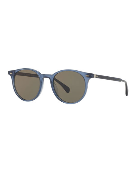 Delray 48 Sun Round Sunglasses, Blue
