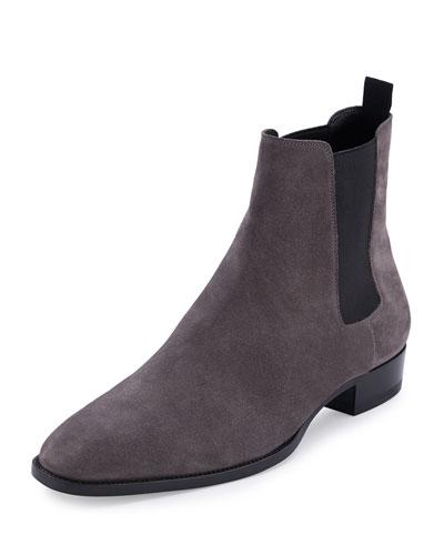 Eddie Suede Chelsea Boot, Gray