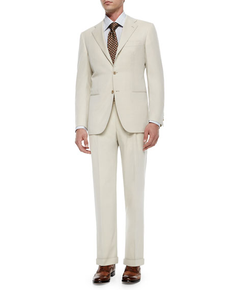 Kiton Two-Piece Wool Suit, Tan