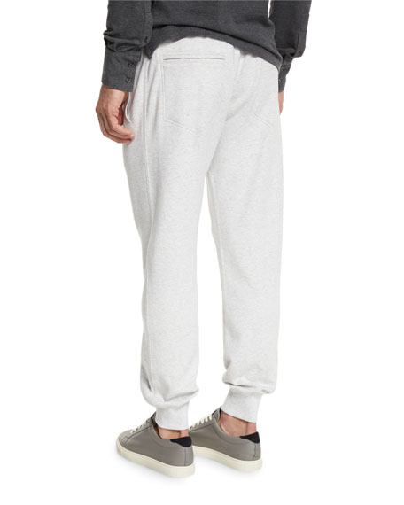 Drawstring Knit Spa Sweatpants, Fog
